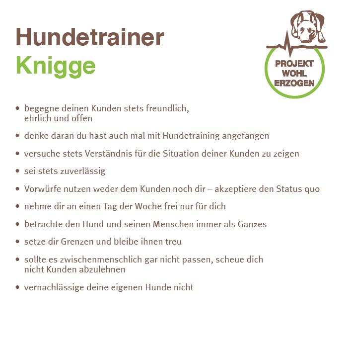 Hundetrainer Knigge Projekt Wohlerzogen