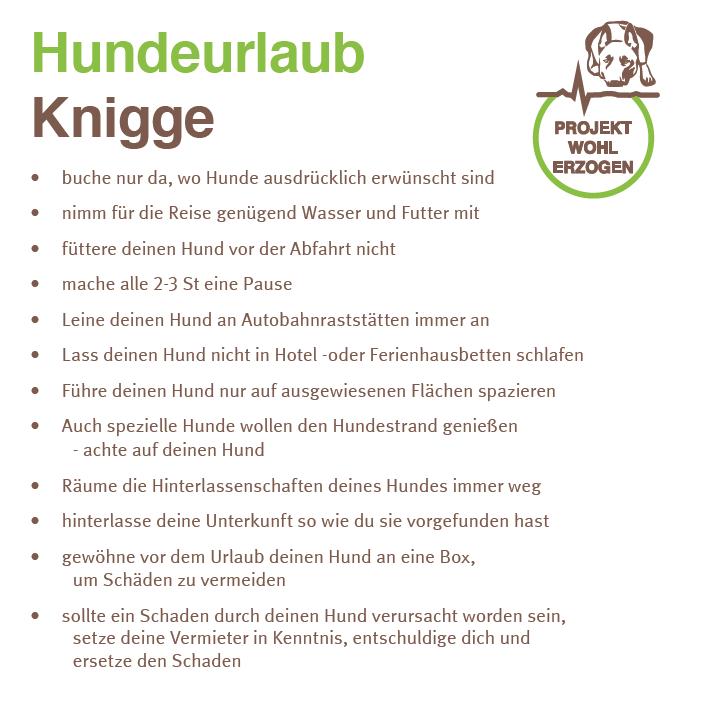 Hundeurlaub Knigge Projekt Wohlerzogen