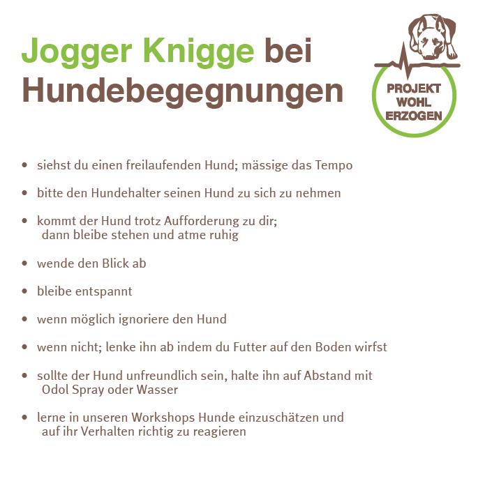 Jogger Knigge Projekt Wohlerzogen